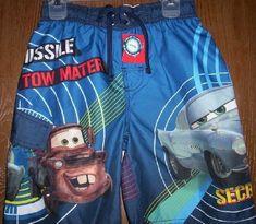 4700f005e8 Disney CARS Finn McMissile Mater Swimtrunks 6/7 NeW Swim Trunks Board Shorts  NWT #