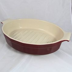 Williams Sonoma Emile Henry Oval Roasting Pan Maroon 7671 ** See this great product.(This is an Amazon affiliate link and I receive a commission for the sales) #RoastingPans