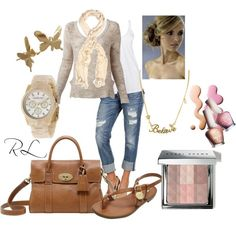 """""""romantic casual"""" by rosa-lauber on Polyvore"""