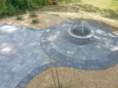 KG Action Masonry updated this outdoor living space with Cambridge Pavingstones and a Cambridge Fire pit kit. Click the picture to view all of Cambridge Paver Outdoor Fire Pit Kits!
