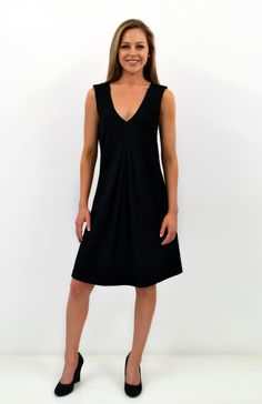 NEW : Black V Front Dress ~ Smitten Merino