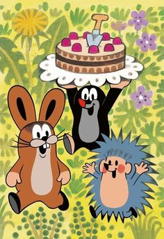 The mole carries a layer cake - The mole carries a layer cake - Gentle Parenting, Kids And Parenting, La Petite Taupe, The Mole, Parent Tattoos, Birthday Cards, Happy Birthday, Kids Sand, Cute Creatures