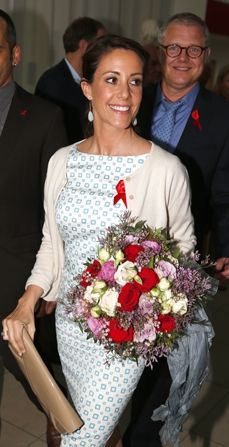MYROYALS  FASHİON: Princess Marie as Patron presented the annual AIDS Foundation Prizes in Copenhagen, Denmark