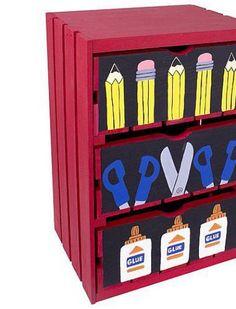 Back to School Craft Supply Crate | DIY Classroom Craft Organizer