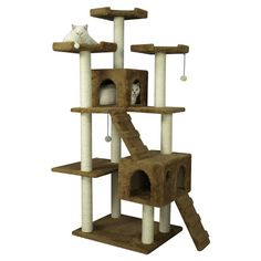 """Found it at Wayfair - 74"""" Cat Tree this place has great prices and this one is great for a two or three cat family"""