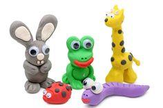 Knet-Ideen für Kinder: Tiere mit Wackelaugen