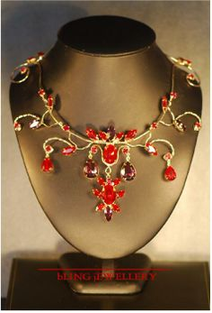 shades of red | Shades Of Red And Amethyst Necklace Jewelry by Janine Antulov - Shades ...
