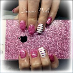 Pinknails#dreamnails#brillnails#nailfashion#crystalnails#followme#nailart#ribbon#gelnails#gelnailart Crystal Nails, Dream Nails, Pink Nails, Nailart, Ribbon, Instagram Posts, Tape, Band, Pink Nail