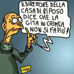 ITALIAN COMICS - Contromisure dei Ministri Mogherini e Pinotti all'invasione della Crimea…