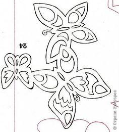 Украшение 8 марта Вырезание 8 Марта Бумага фото 23 Kirigami, Paper Cutting Patterns, Stencil Patterns, Butterfly Template, Butterfly Crafts, Quilling Craft, Paper Quilling, Vinyl Paper, Paper Art