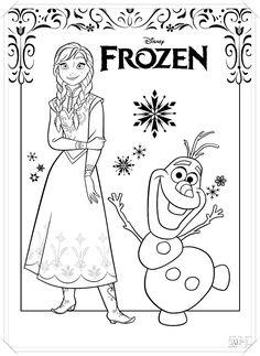 Las 132 Mejores Imagenes De Dibujos De Frozen Para Colorear