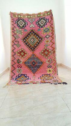 Erstaunliche Berber marokkanischen Azilal Teppiche rosa Farben