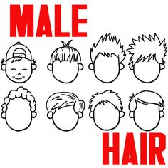 simple chibi curly hair male - Buscar con Google