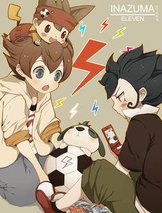 J.P, Arion y Victor Blade Inazuma Eleven Go
