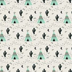 Teepee Mint (small) fabric by kimsa on Spoonflower - custom fabric