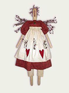 Primitive Doll Patterns | Ragberries Primitive Raggedy Doll Sewing Pattern
