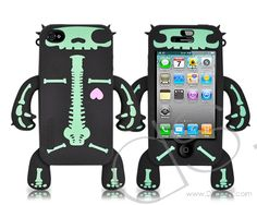 Robot Series iPhone 4 Silicone Case - Skull  #iphone http://j.mp/KIsvwR