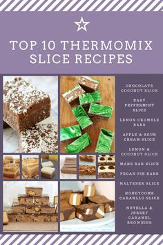 The Very Best Thermomix Slices (the ultimate collection) - Bake Play Smile Apple Sour Cream Slice, Chocolate Slice, Chocolate Desserts, Bellini Recipe, Delicious Desserts, Yummy Food, Lunch Box Recipes, Recipes Dinner, Thermomix Desserts