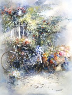 5/28/16 ~ Belinda, Willem Haenraets is such a gorgeous painter. I wanted to share a lovely painting by him depicting a perfect spring scene <3 donna