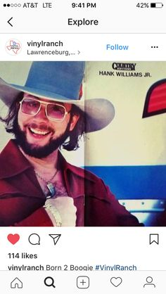 A picture of hank jr I believe to be from a magazine