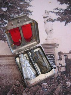 vintage pocket shrine from WWII German soldiers