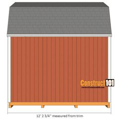 My Shed Plans - shed plans -gambrel shed - side view - Now You Can Build ANY Shed In A Weekend Even If You've Zero Woodworking Experience! Pallet Shed Plans, 10x10 Shed Plans, Diy Storage Shed Plans, Free Shed Plans, Shed Blueprints, Run In Shed, Shed Building Plans, Gambrel, Shed Design