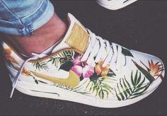floral nike white