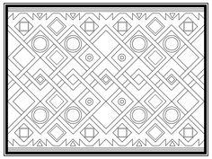 Geometric Repeat Pattern: Pineapple