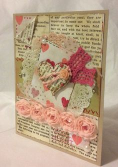 Vintage style Valentine - Artisan Embellishments - Handmade Stampin Up card - MidnightCrafting.com #tarjetas #valentinesday #cardmaking