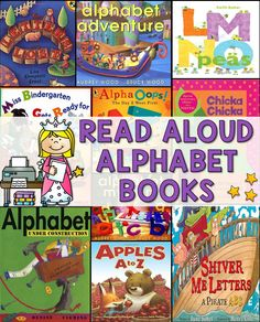 Lots of ideas for read alouds that also teach letters!
