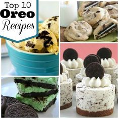 Top 10 Oreo® Dessert Recipes, Okay not all #Vegan but these would be very easy to make Vegan by using non-dairy milk , and non-dairy shortening :)