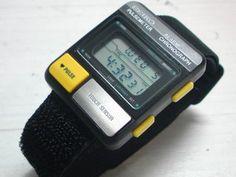 SEIKO  runners black pulsemeter