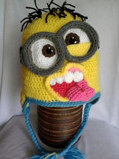 Minion crochet hats .. a little different take on the minion hat