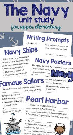 Navy Unit Study For Upper Elementary (homeschoolers!)