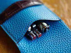 pen case  #pencase #leatherwork #leathercraft #leathergoods #shrunken_calf #stationery #pens #carandache #pelikan #bespoke #niwaleathers by niwa_leathers