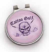 Tattoo Golf ladies Cap Clip with Pink Magnetic Ball Marker. Tattoo Golf  offers style never a24ae49eb6d8