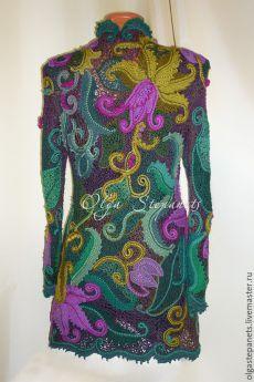 Compre cardigan peruana - casaco de lã, crochet casaco de lã, do Peru, renda irlandesa, friform, turquesa