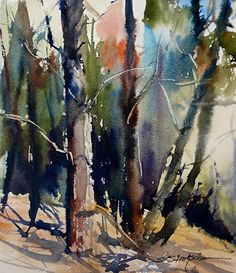 Trunk Show by Sandy Strohschein Watercolor ~ 12 x 10