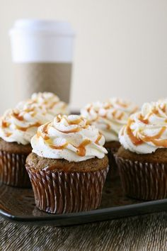 Pumpkin Spice Latte Cupcakes!! In the process of making these for my mom's birthday tomorrow!!