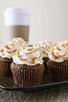 Pumpkin Spice Latte Cupcakes #recipe #pumpkin #tastykitchen