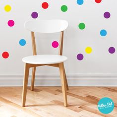 The Original Confetti Polka Dot Wall Decals. Easy to use and repositionable!