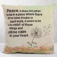 Natural Life, Pillow - Dandelion Peace – Loves Creation
