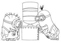 minions aggiustano il distributore di acqua disegno da colorare.jpg (794×567)