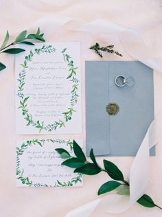 Spring foliage invitation suite: http://www.stylemepretty.com/2016/03/20/spring-preview-every-detail-you-need-to-see-this-season/