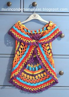 my corner of butterflies: Vest circular (with schedule)  this post is in spanish but I LOVE the wrap she made! I need one in an aadult size!