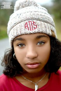 3e148a8399b3b Monogrammed Kids CC Pom Pom Beanie - Add Embroidered Name or Initials