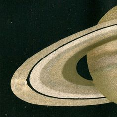 Astronomy Print Planet Saturn 1901 Color by CarambasVintage, $22.00
