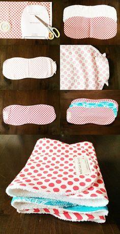 Baby Burp Cloth Montage