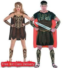 Adult Couples Costume Idea Ladies Warrior or Mens Centurion Gladiator Roman  sc 1 st  Pinterest & Buckingham Babe Costume | £38.79 | Woman Warrior | Pinterest | Woman ...