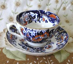 Antique 1895 Imari Pattern  Cup and Saucer  World Wide Shipping by TheMewsCottage on Etsy